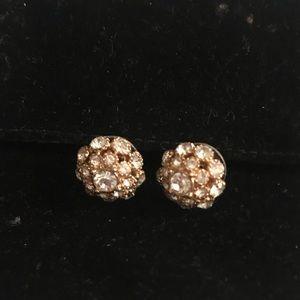 Kate spade rhinestone cluster earrings